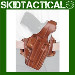 "Galco Glock 20/21 Fletch 4.5"" Right Hand Premium Steerhide Holster - Tan"