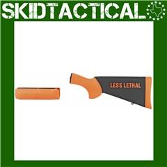 Remington 870 12 Gauge Less Lethal Orange OverMolded Shotgun Stock w/forend