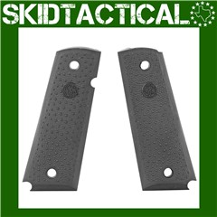 1911 Government Model Cobblestone OverMolded Rubber Grip Panels w/ Palm Swe