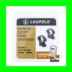Leupold 51038 Ringmount Rings Dovetail Ruger #1 & 77/22 30mm Medium...