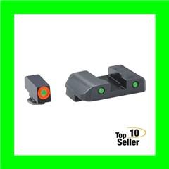 AmeriGlo GL448 Spartan Operator Fits Glock 20/21 Tritium Green w/Orange...