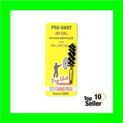 """Pro-Shot 38NP Nylon Bore Brush .38,9mm Pistol 8-32 1.75"""""""