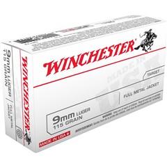 Winchester CART 9MM 115GR FMJ