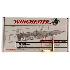 Winchester .23 Remington/5.56 NATO 55 GR Full Metal Jacket