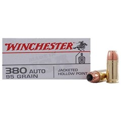 Winchester Best Value JHP 95 GR model380 Automatic Colt Pistol (ACP)