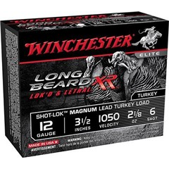 "Winchester Long Beard XR 3.5"" 12 GA lead #6 shot"