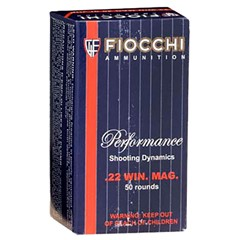 Fiocchi 22 Magnum Hunting .22 WMR 50BX