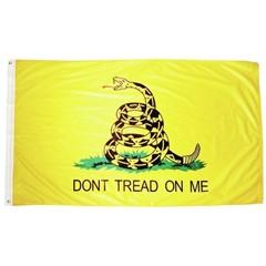 FLAG-600676 Flag Gadsden Polyester Flag 5ft x 3ft