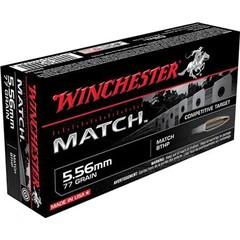 Winchester Match Boat Tail Hollow Point .223 Remington/5.56 NATO