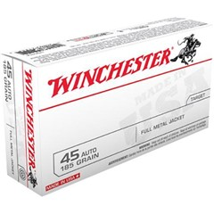 Winchester Best Value FMJ 185 GR .45 ACP