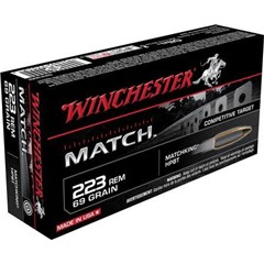 Winchester Match Boat Tail Hollow Point 69 GR .223 Remington/5.56 NATO