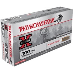 The Winchester Super-X Power-Point 300 Winchester Short Magnum
