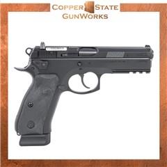 """CZ CZ 75 SP-01 Tactical 9mm 4.60"""" 18+1 Black Black Steel Slide Black 89153"""