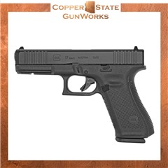 "Glock G17 Gen5 9mm 4.49"" 10+1 Black Polymer Frame Black nDLC PA175S201"