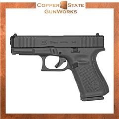 "Glock G19 Gen5 Compact 9mm 4.02"" 10+1 Black Polymer Frame Black PA195S201"