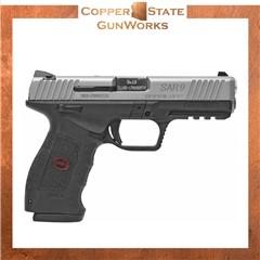 "Sar USA SAR9 9mm 4.40"" 17+1 (2) Black Stainless Steel Black SAR9ST"