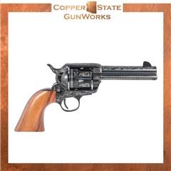 "Pietta 1873 GW2 45 Colt (LC) 6rd 4.75"" Blued Laser Engraved HF45LLE434NMBW"