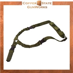 Rukx Gear Tactical Bungee Sling Single Point Sling Green ATICT1PSG